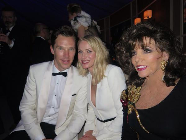Joan CollinsMore @ Vanity Fair Bash with Naomi & B C