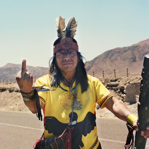 Nicolas Demeersman aka Pretty Punk (b. 1978, Seclin) - Chaman Line Nazca, Peru. 2011 from ongoing Fucking Tourist series 2009-2014 Photography