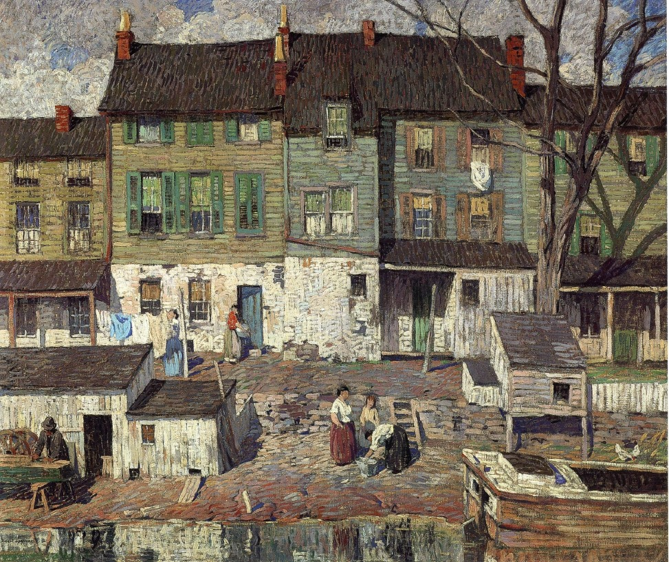 artishardgr:Robert Spencer - On the Canal, New Hope 1916