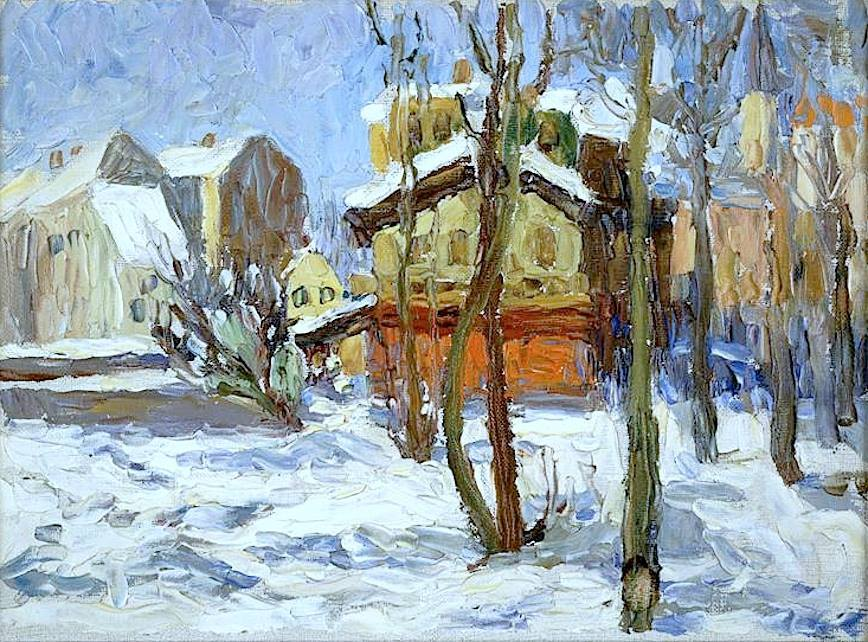 Wassily Kandinsky (1866-1944)Hiver à Schwabing (1902)oil on canvas
