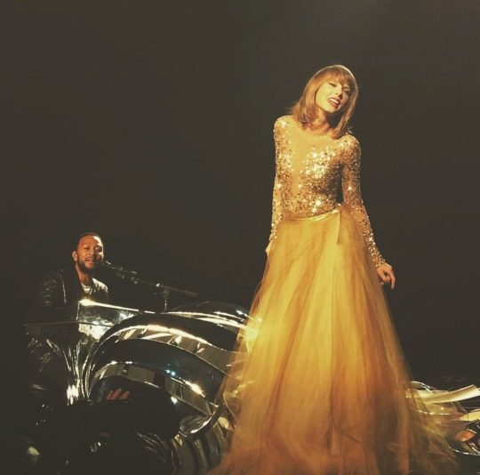 Taylor Swift getting all the feels from an emotional John Legend performance.