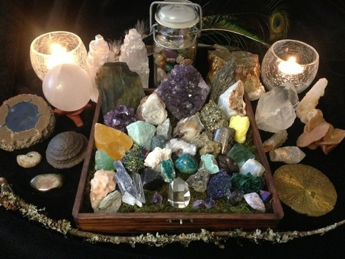 Hippie Boho Indie Candles Hippy Crystals Gems Incense