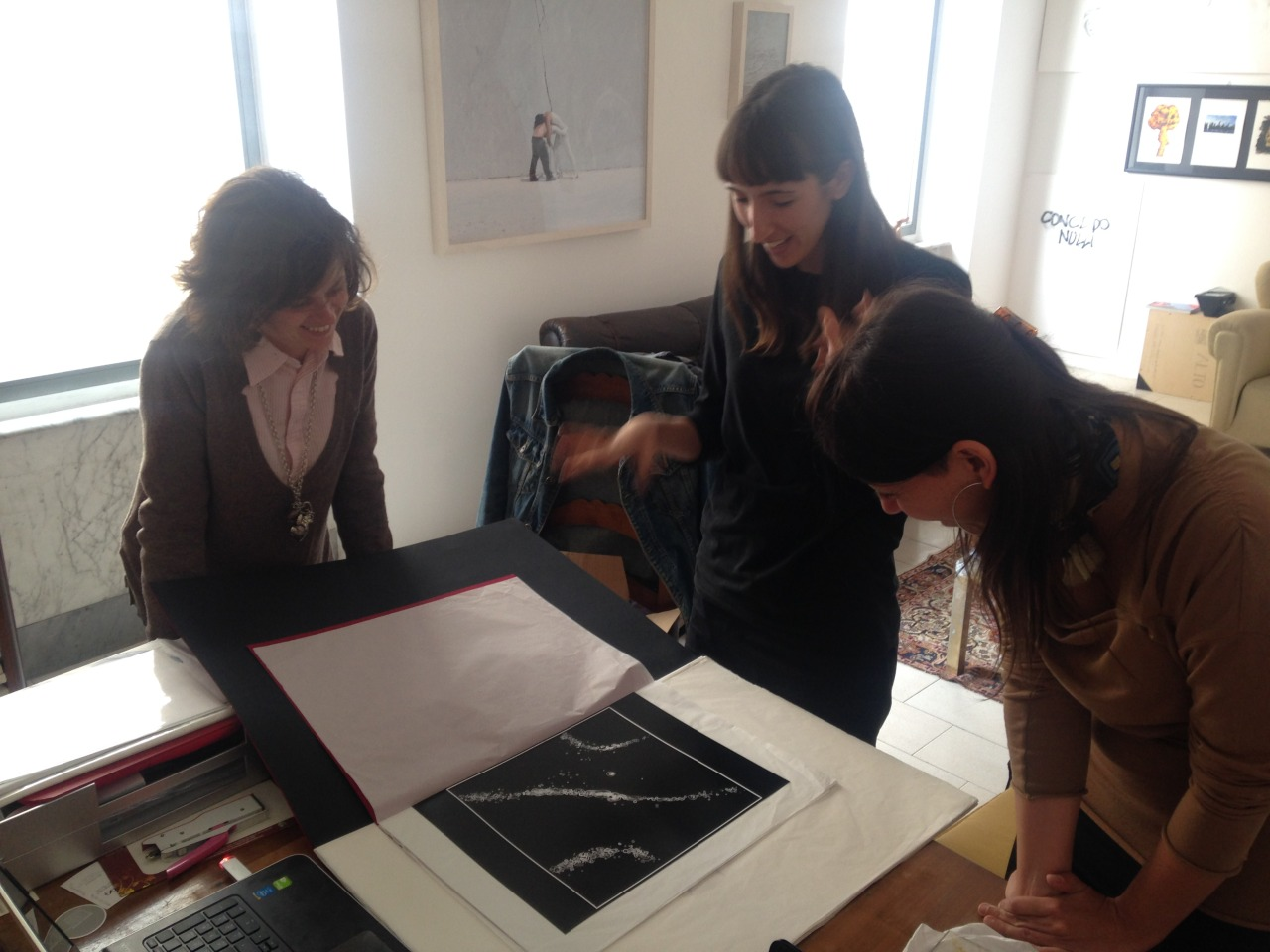 22.05.2015 Alessia Prati studio visit @ DATABASE show room (2) con Carolina Gestri e Stefania Rinaldi