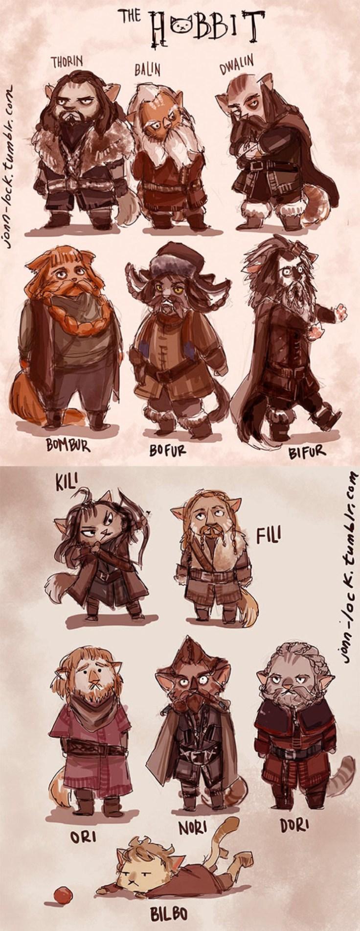 Si les Hobbits étaient des chats