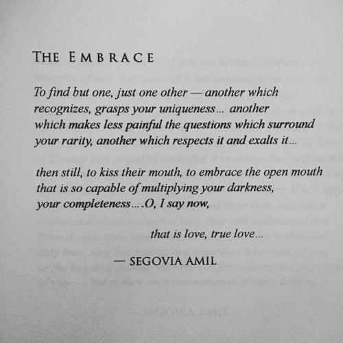 The Embrace, written by Segovia Amilsegoviaamil.cominstagram.com/segoviaamilsegoviaamil.tumblr.com