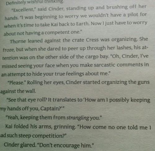 Cinder and Thorne are my brotp  #TakeControlThon