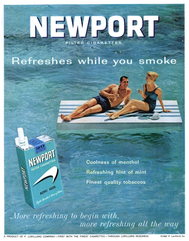 Newport Filter Cigarettes - published in Life - December 21, 1962