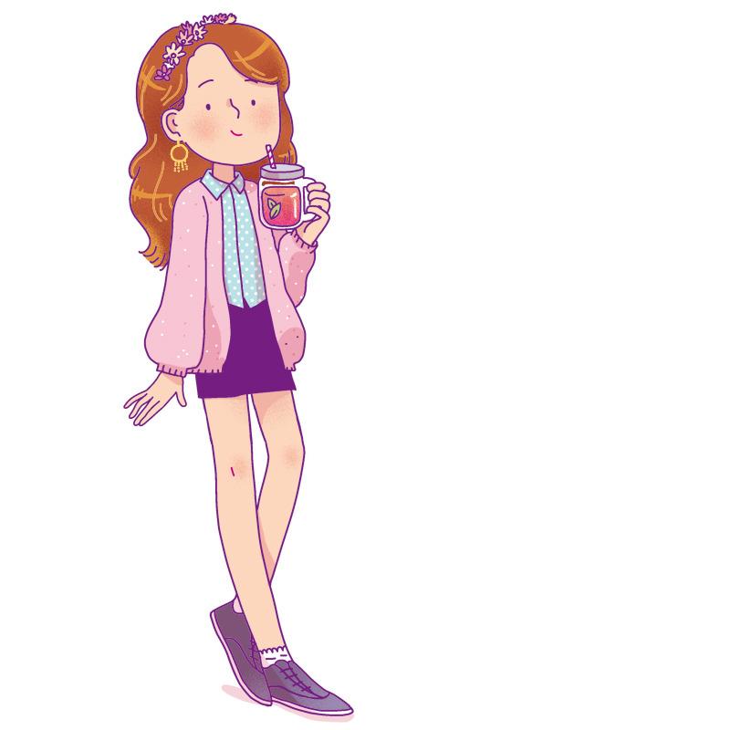 jeune fille au smoothie