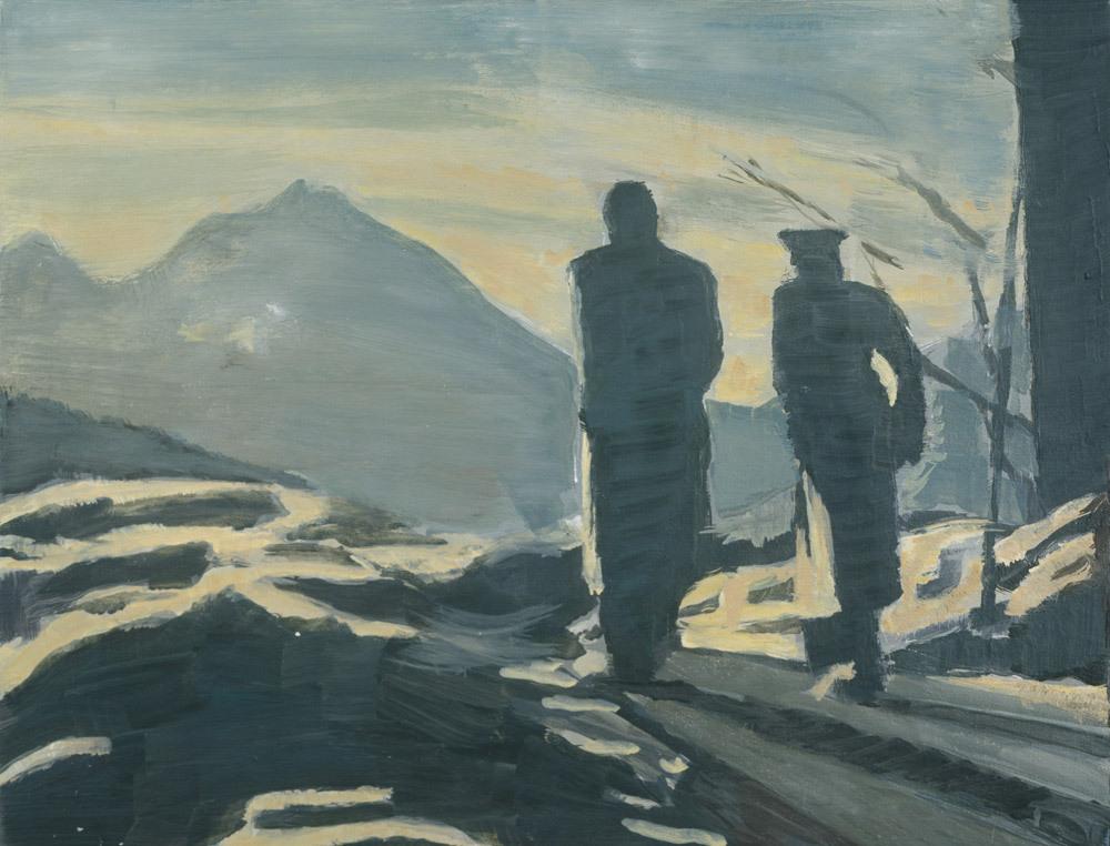 amare-habeo: Luc Tuymans (Belgian, born 1958) The Walk(De Wandeling),1993 Oil on cnavas