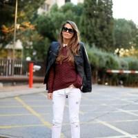 Leather Jacket X Sweater X Pants