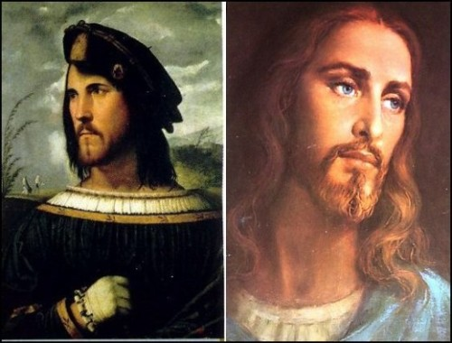 """White Jesus modeled on Cesare Borgia?<br /><br /><br /><br /> The theory is that people weregenerallynot too enthusiastic about the Catholic Church's regular massacres of Jews and Muslims, because the people they were killing looked like Jesus. Pope Alexander VI then ordered the destruction of all art depicting aSemiticJesus andcommissioned a number of paintings depicting aCaucasianJesus. His son, CardinalCesare Borgia, was the model for these paintings. Thus, the nastiest of all the Borgias, became the iconicCaucasian Jesus so loved by Christians today.<br /><br /><br /><br /> In 1995,GZA's Liquid Swords album featured the solo track byWu-Tang Clan affiliate,Killah Priest,""""B.I.B.L.E. (Basic Instructions Before Leaving Earth)"""". The lyrics include the lines;""""I even learnt Caucasians were really the Tribe of Edam,The white image, of Christ, is really Cesare Borgia""""<br /><br /><br /><br /> The true image of Jesus was likely closer to this &amp; this."""