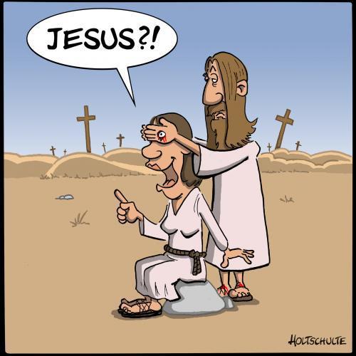 jesus joke about holes in hands