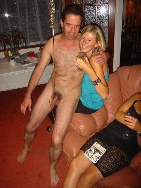 Topless wife