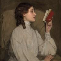 Miss Auras, The Red Book (1907). Sir John Lavery...