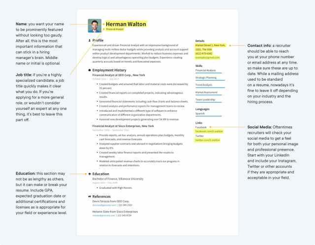Job winning Resume Templates 24 (Free) · Resume.io