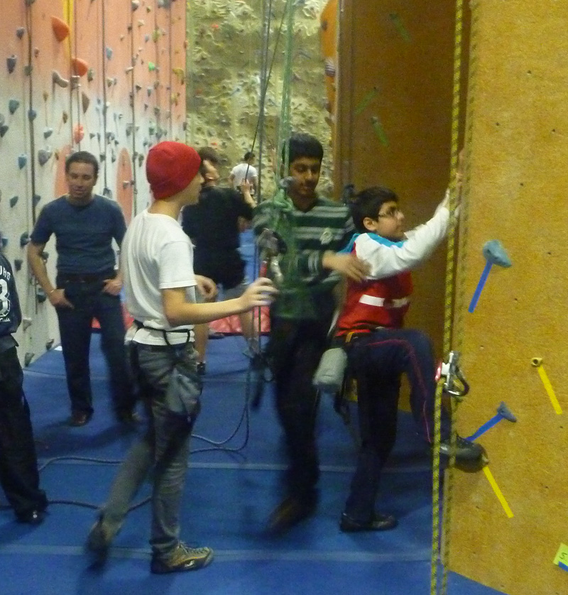 The whole troop at Toronto Climbing Academy