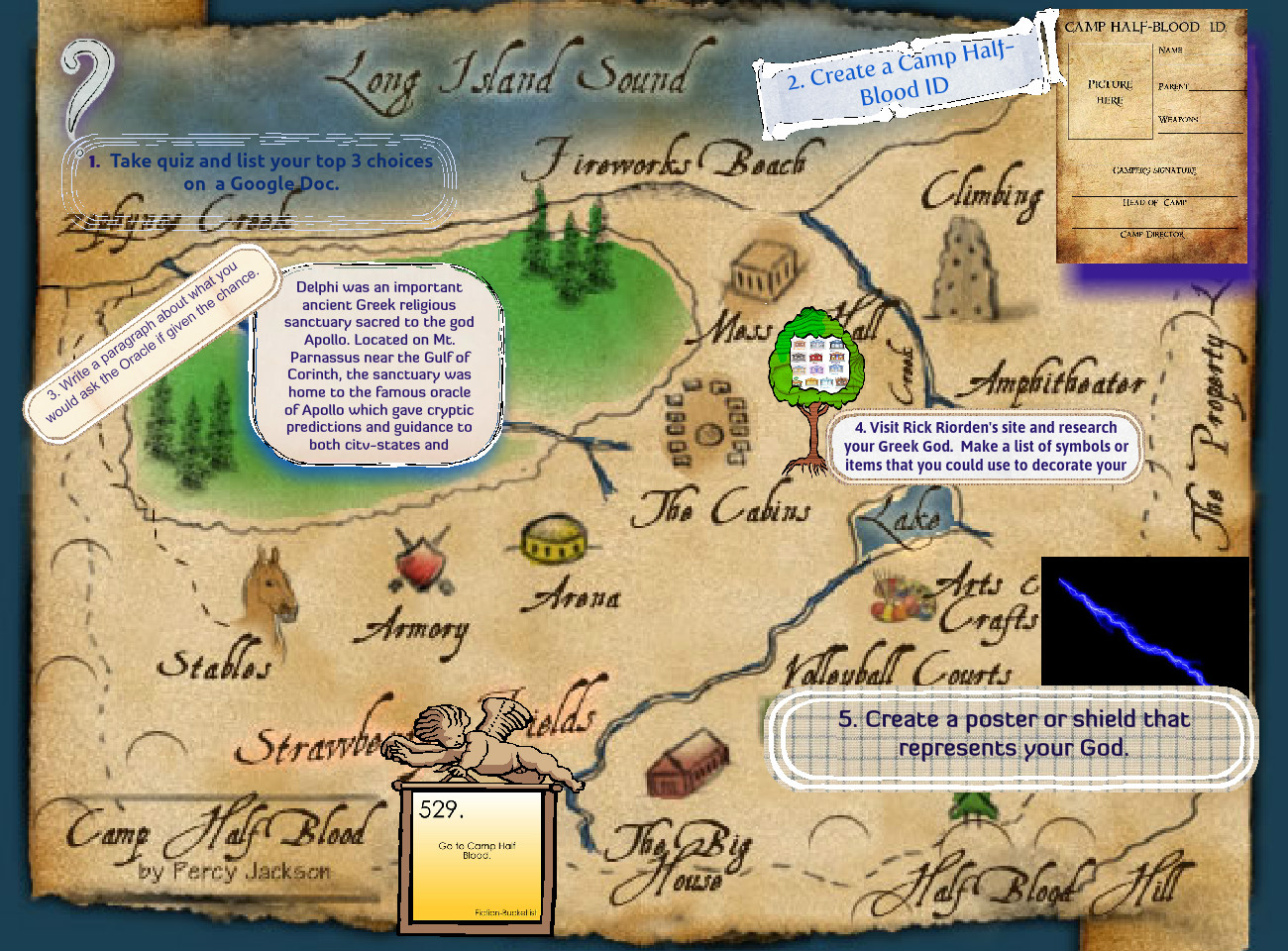 The Lightning Thief Cabins Camp Half Blood Lightning Thief Map Percy Jackson Project