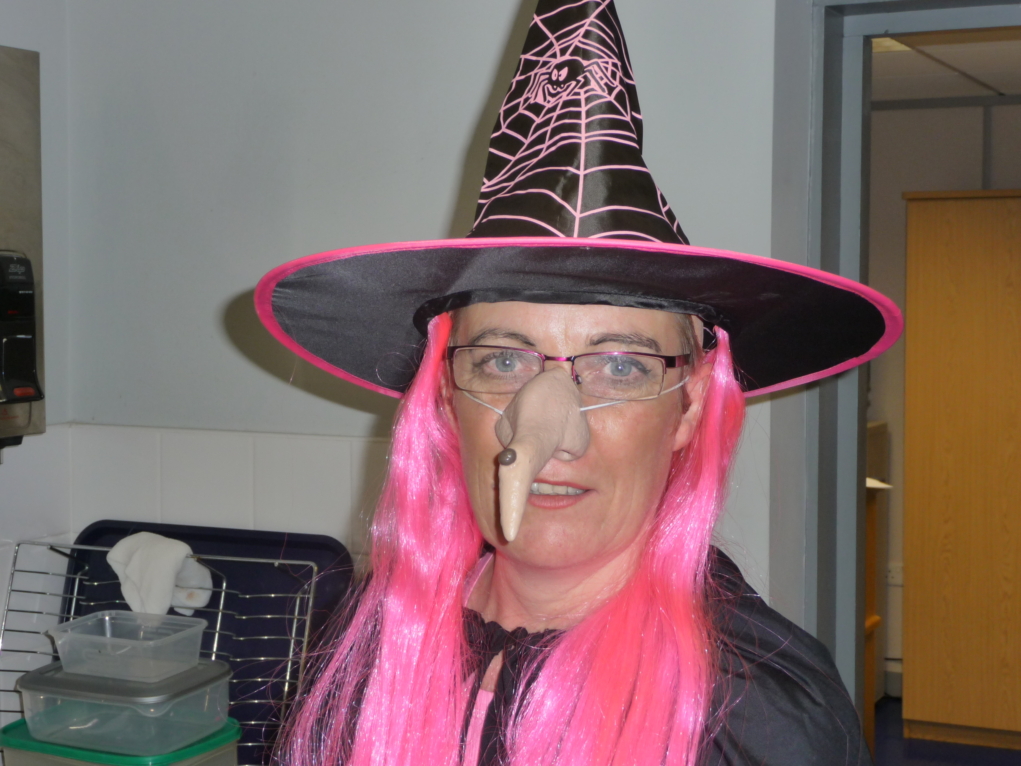 A pink witch