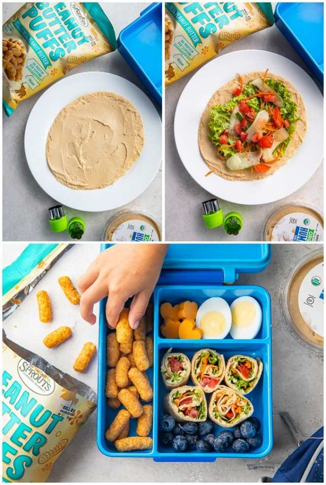Instructions for kids vegetarian lunch