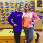 Kim Zabel and Melissa McNallan at Running Room in Rochester