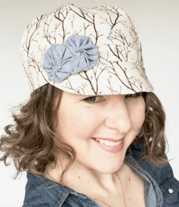 Bound to Be Creative Reversible Cloche Hat Floral Side