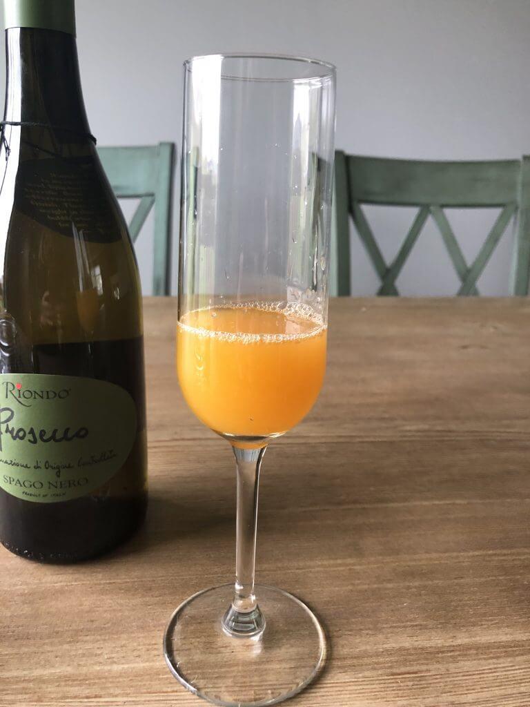 Grand Marnier and Orange Juice in Champagne Flute