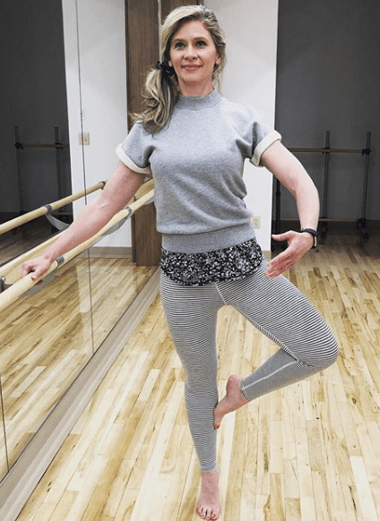 Melissa McNallan working on Dancer's Legs in 14 Days
