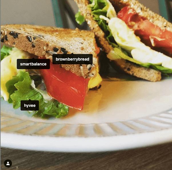 Tomato Egg and Lettuce Breakfast Sandwich