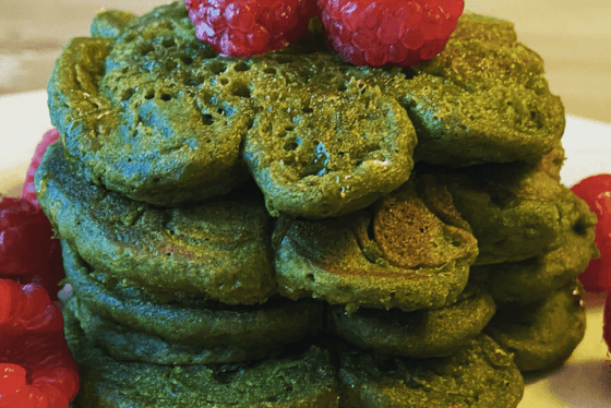 Matcha Shamrock Pancakes Featured Image