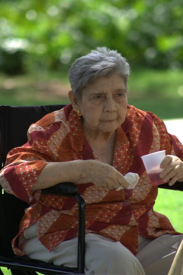 Tía Fantina, en el cumpleaños 75 de Lope (Julio 2008)