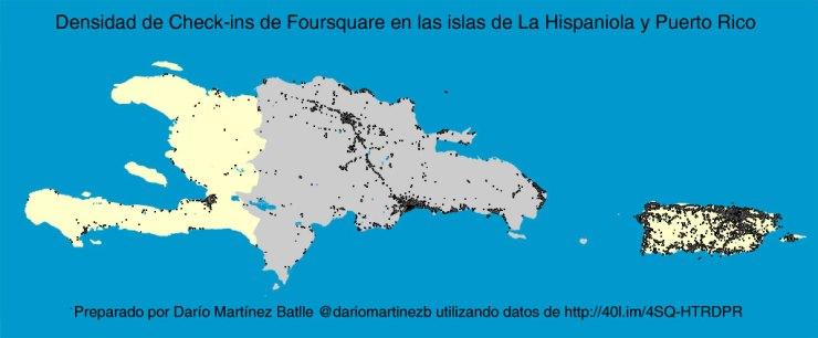 Vista más legible de Haití, República Dominicana y Puerto Rico