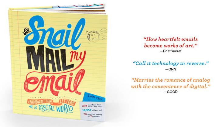 SnailMailMyEmail hasta produjo un libro