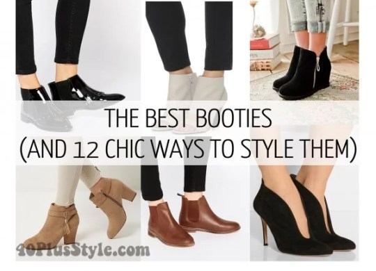 How to wear booties with skirts  dresses and pants  How to wear booties with skirts  dresses and pants    40plusstyle com