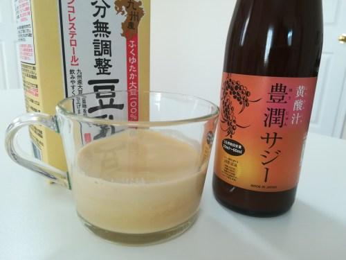 豊潤サジージュース豆乳割