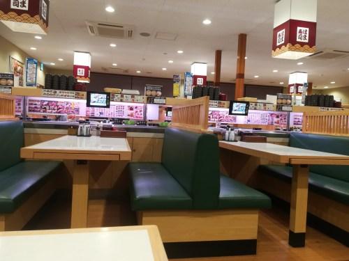 はま寿司テーブル席