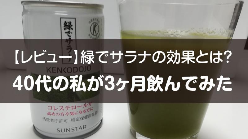 緑でサラナ 3ヶ月 飲んでみた レビュー 感想 結果