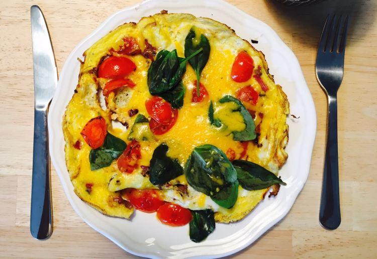 40 Tage ohne Zucker - Omelett