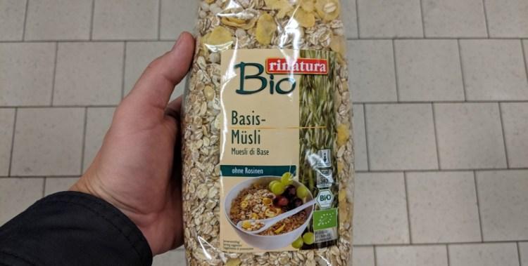 Bio rinatura Basis Müsli ohne Zucker