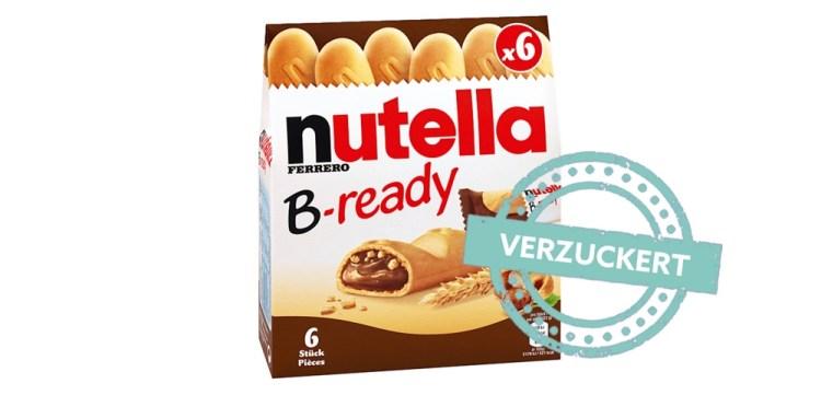 Nutella B Ready im Zucker-Check
