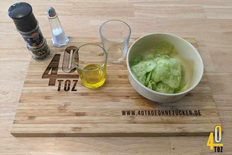 Grundrezept für Gurkensalat