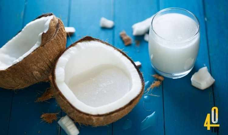 Kokosmilch ohne Zucker