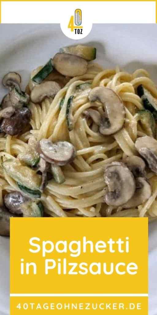 Rezept für Spaghetti in Pilzsauce