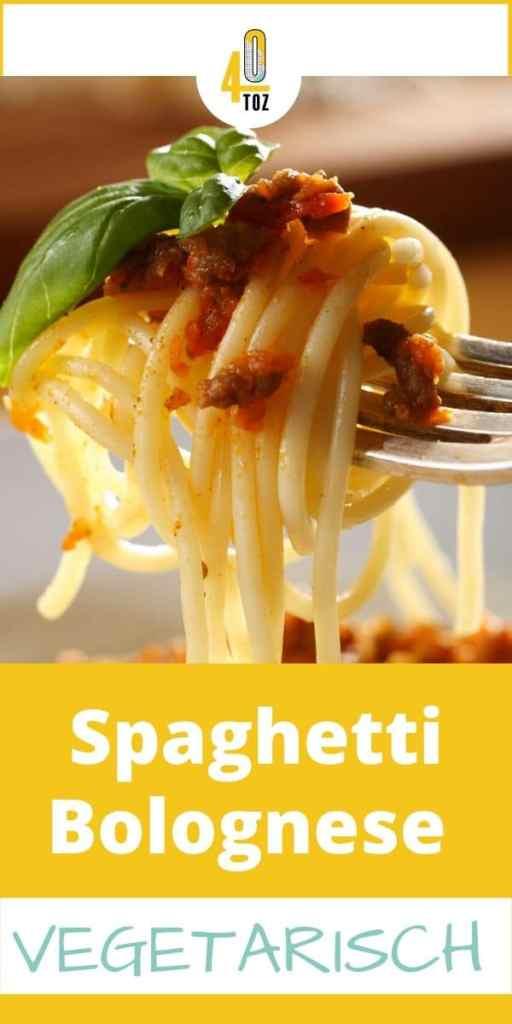 Rezept für eine vegetarische Spaghetti Bolognese - ohne Fleisch