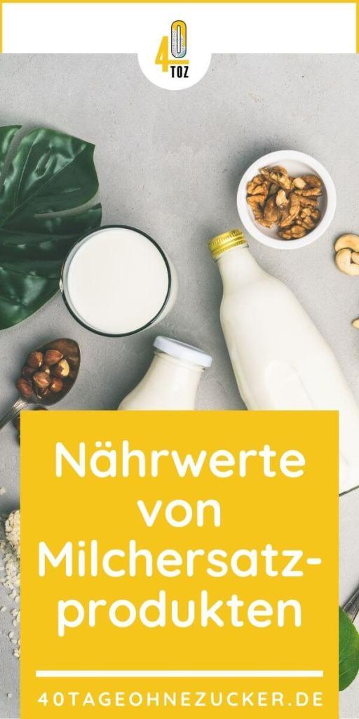 Nährwerte von Milchersatzprodukten