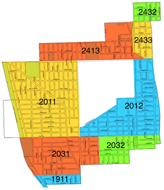 40th Ward Beat Map