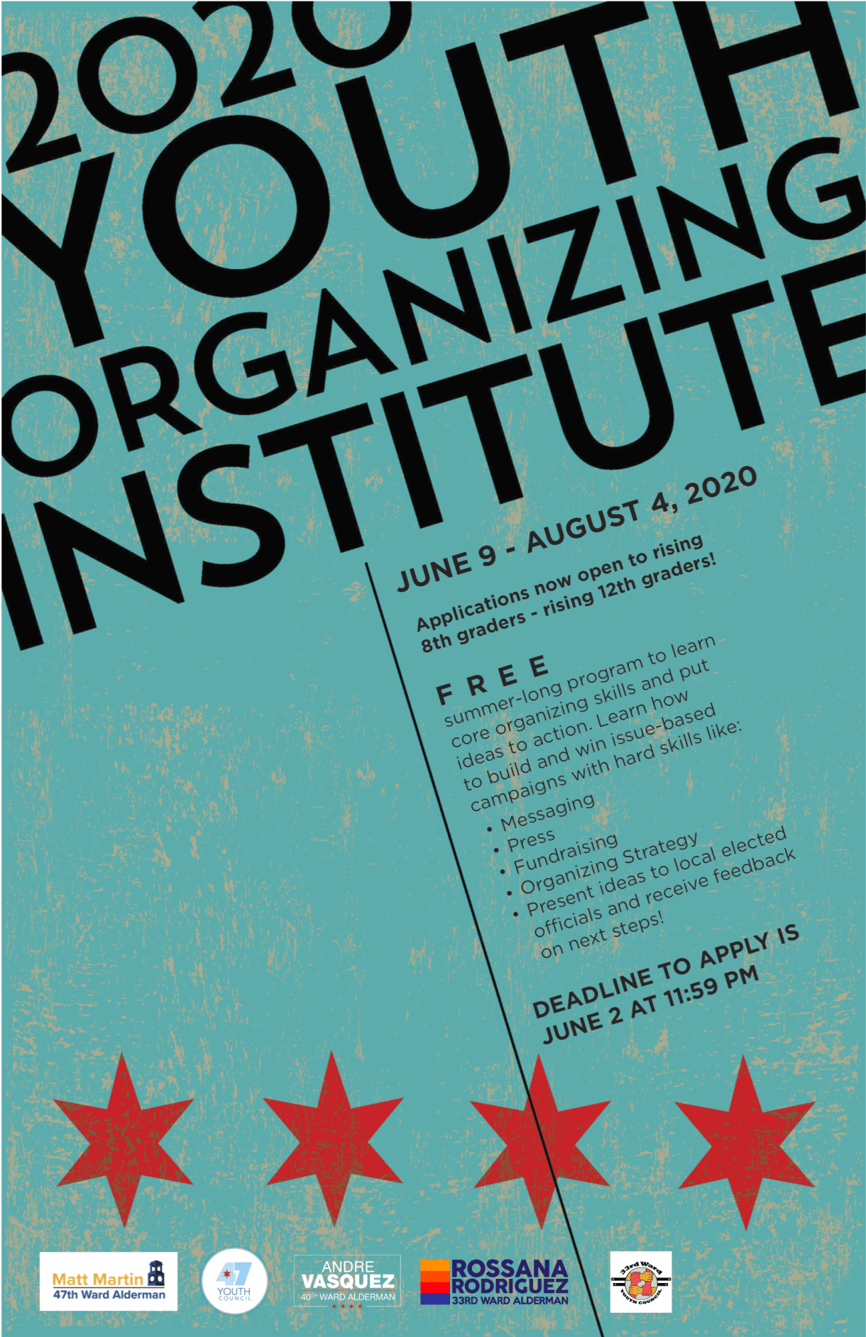 Youth Organizing Institute flyer