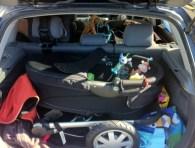 Car full of baby stuff