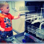Indy playing on the dishwasher prt 1