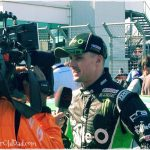Mark Winterbottom being interviewed by a TV crew