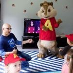Alvin gets his air guitar on